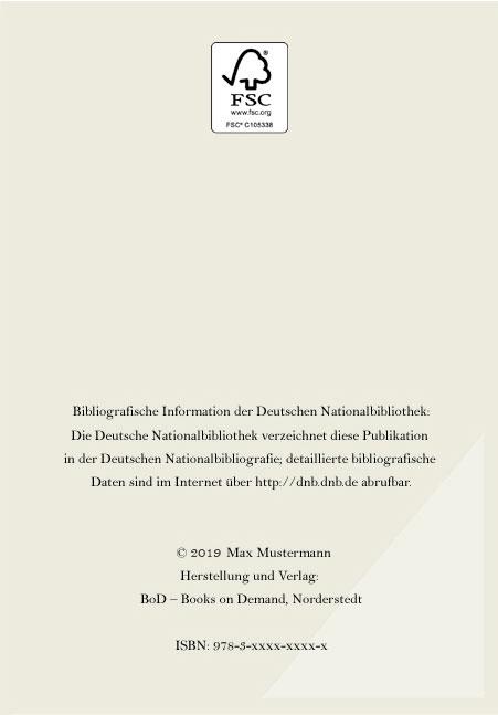 Buchausstattung: BoD - Books on Demand GmbH